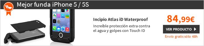 Incipio Atlas iD Waterproof funda iPhone 5/5S negro (IPH-1160-BLK)