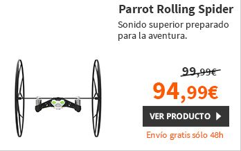 Parrot MiniDrone Rolling Spider Blanco (PF723000P1)