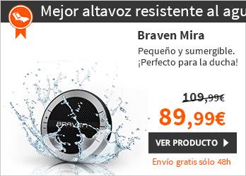 Braven Mira Altavoz Bluetooth partátil Negro (BMRABBB)