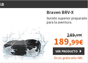 Braven BRV-X Altavoz Bluetooth Resitente a golpes y agua Negro (BRVXBBB)
