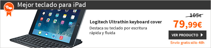 Logitech Ultrathin Keyboard Cover Funda con teclado iPad Air Negro (920-005515)