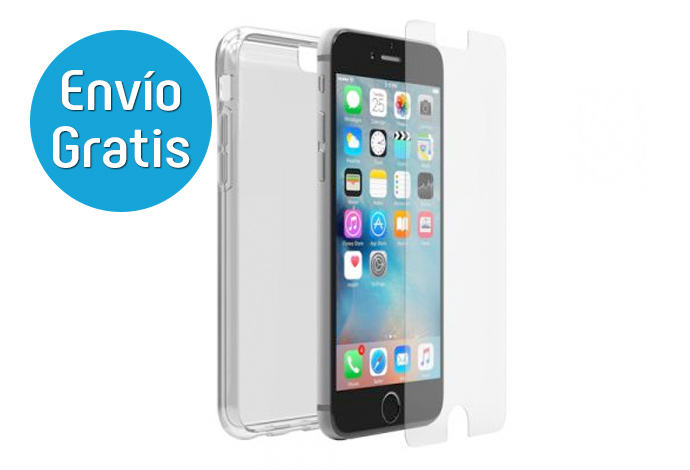 OtterBox Skin Clearly Funda Gel + Protector iPhone 6/6S
