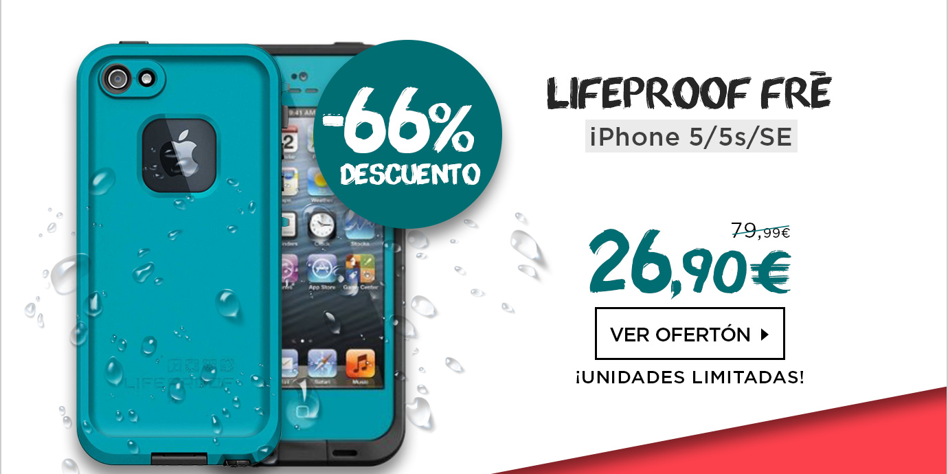 LifeProof Fre Funda sumergible iPhone 5/5s/SE Azul/Negro