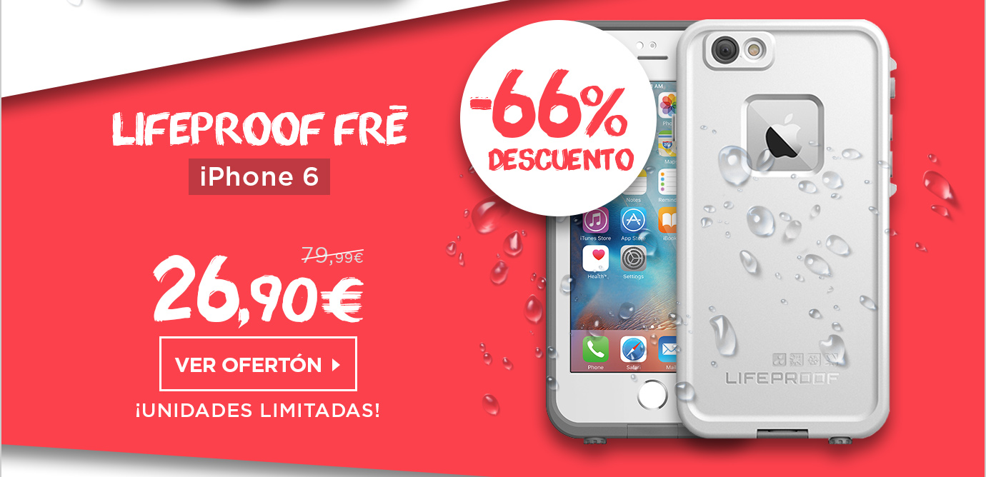 LifeProof Fre Funda Sumergible iPhone 6/6s Blanco (77-52557)