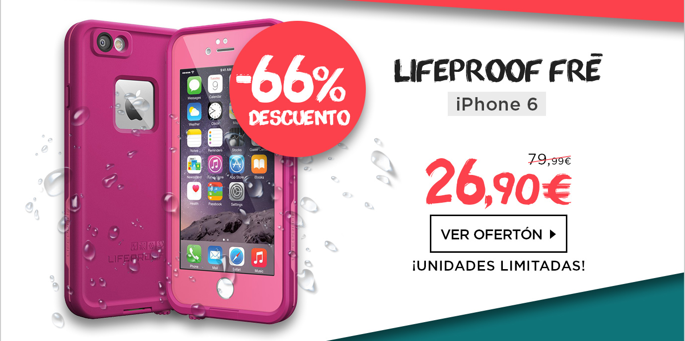 LifeProof Fre Funda Sumergible iPhone 6/6s Rosa