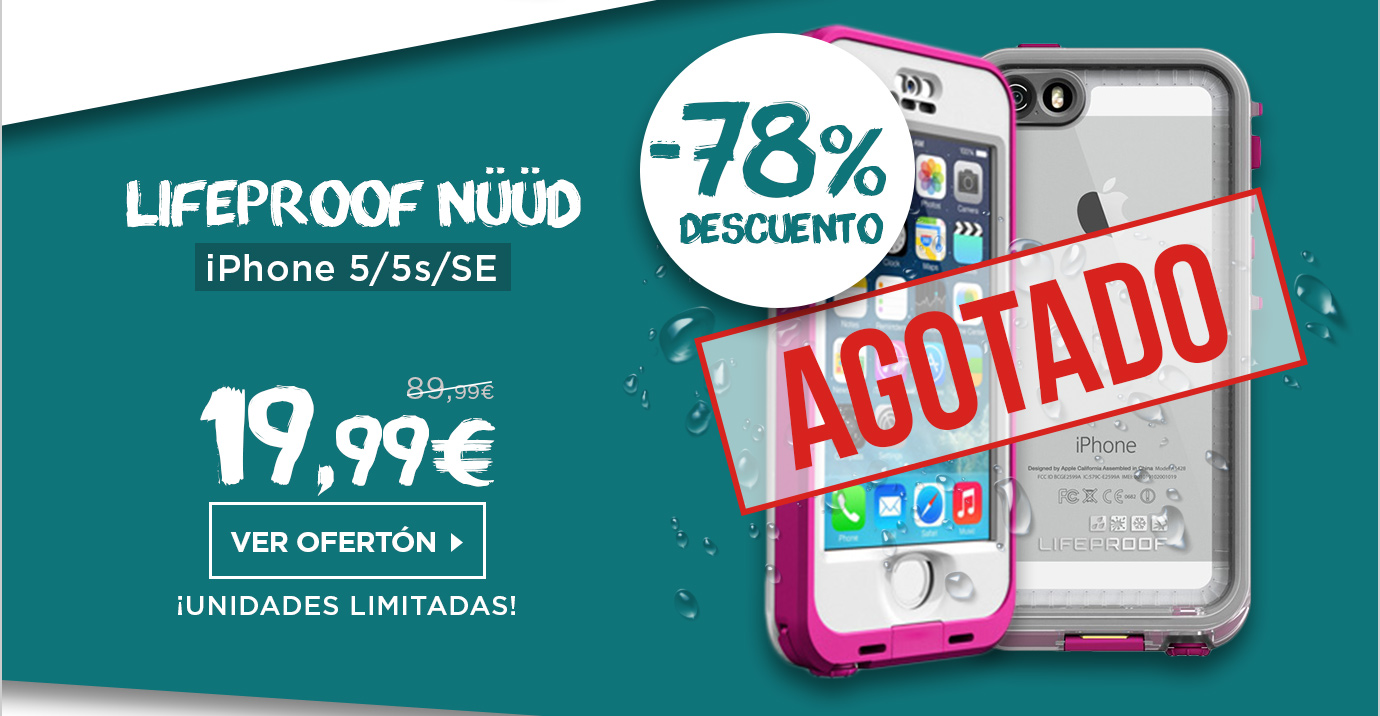 Lifeproof Nuud Funda iPhone 5/5s/SE Sumergible Rosa