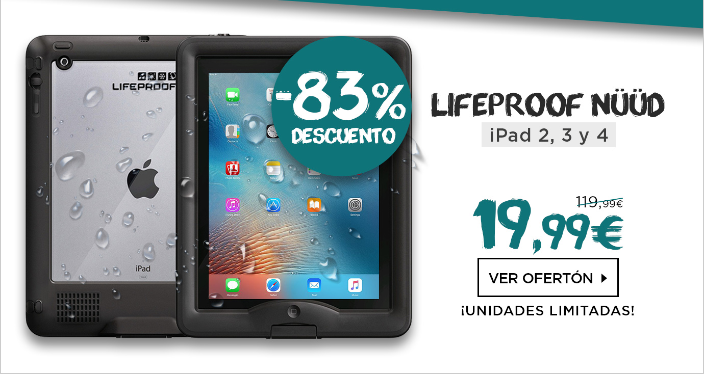 Lifeproof Nuud Funda Sumergible iPad 2,3,4 Negro (1113-01)