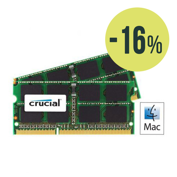 Pack Crucial RAM 16GB (2x8GB) SO-DIMM 1600Mhz